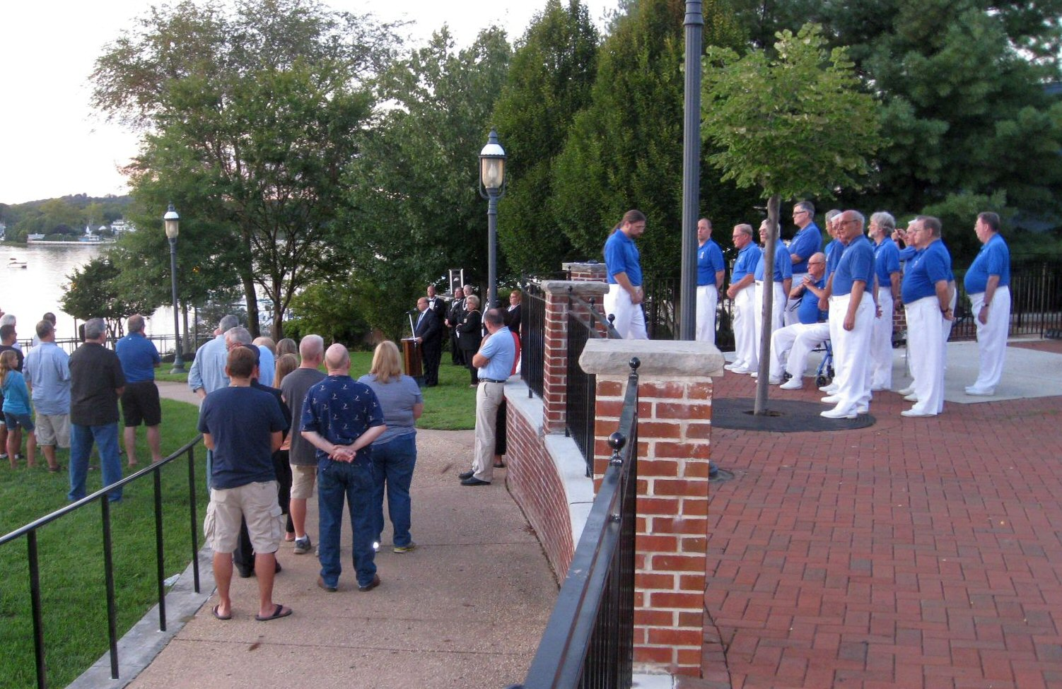 Red Bank Chapter sings at 9/11 event